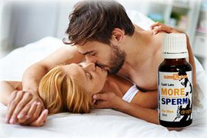 Двойка прави секс благодарение на продукта More Sperm
